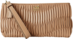 COACH Madison Gathered Leather Zip Clutch