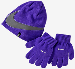 NIKE REFLECTIONS COLD-WEATHER PRESCHOOL KIDS' KNIT HAT AND GLOVES SET
