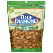 Blue Diamond Whole Natural Almonds, 16 oz (Pack of 6)