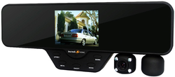 Incredisonic Falcon F-360 Rear View Mirror HD Dual-Camera Digital-Video Recorder