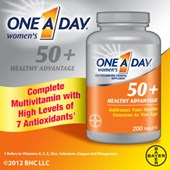 One A Day® Women's 50+ Healthy Advantage, 200 Tablets