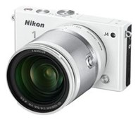 Nikon 1 J4 Mirrorless 18.4MP Digital Camera with 10-100mm Lens (White)